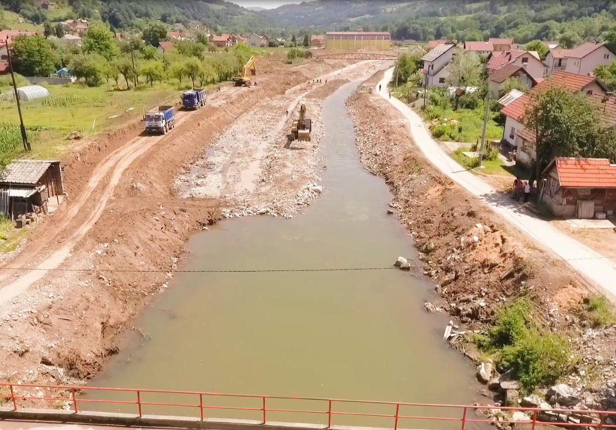 Шековићи: Радови на регулацији ријеке Дрињаче иду планираном динамиком