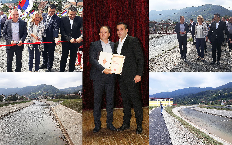 Завршено уређење корита ријеке Дрињаче у Шековићима