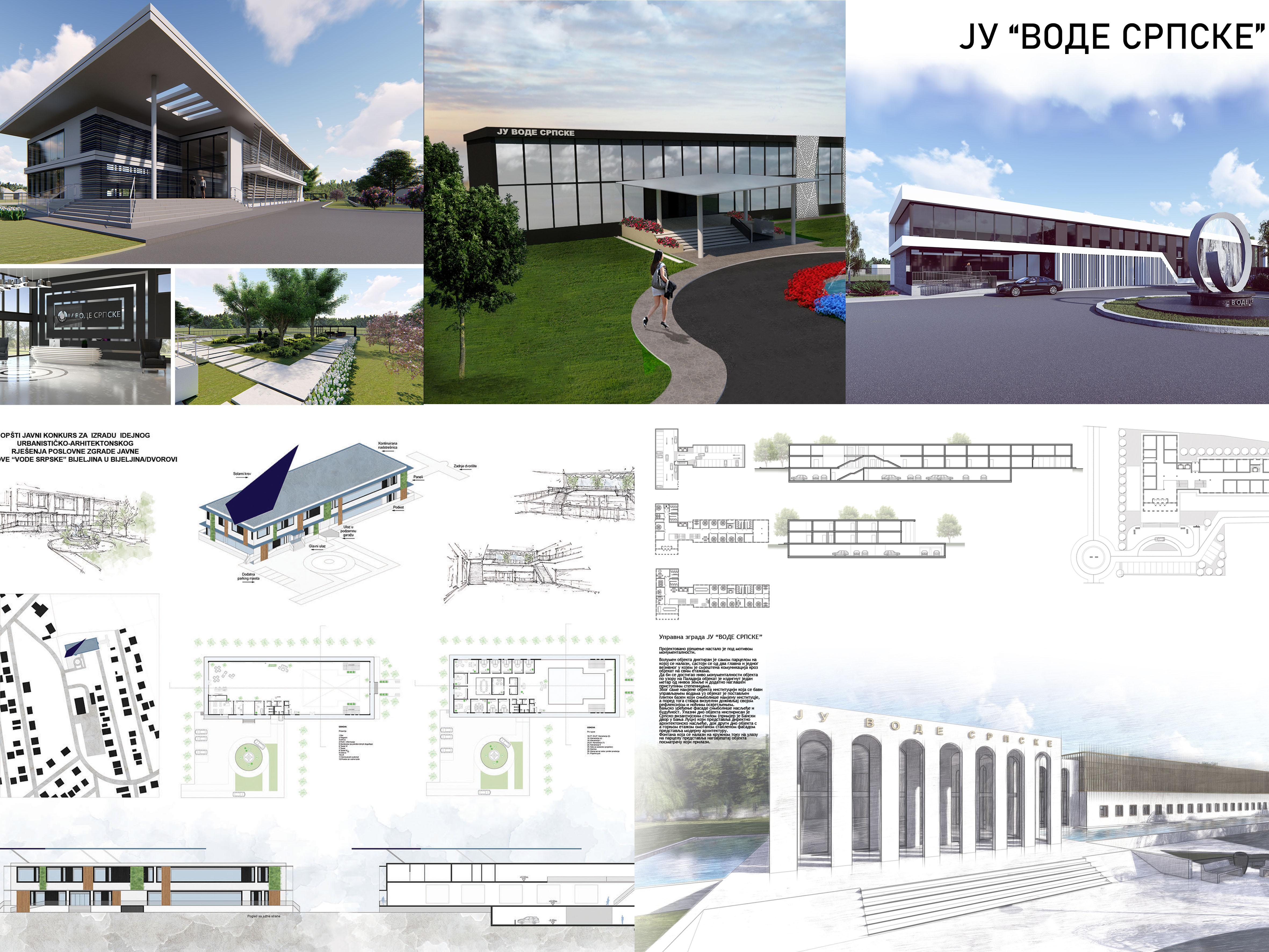 Prijedlozi idejnog rješenja poslovne zgrade JU Vode Srpske Bijeljina
