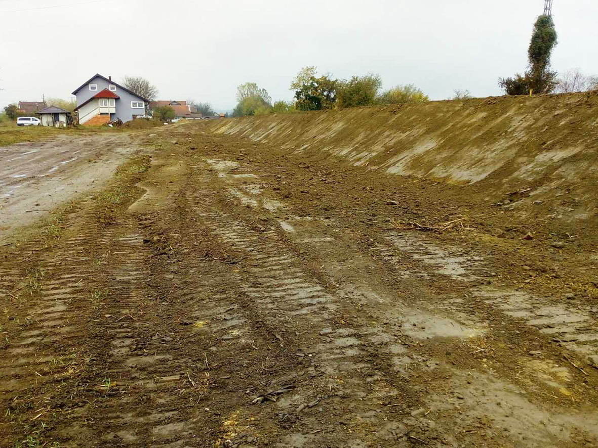 Prijedor: Završena izgradnja nasipa na Sani, uzvodno od ušća Gomjenice