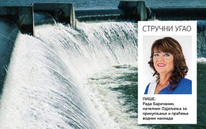 STRUČNI UGAO: Obračun i prikupljanje posebnih vodnih naknada