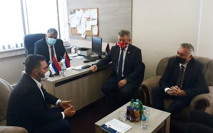 """Ministri Košarac i Pašalić u radnoj posjeti JU """"Vode Srpske"""""""
